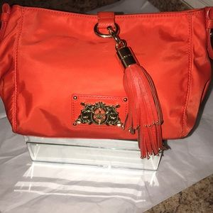 Juicy Couture Red Nylon Clutch Bag with JC Tassel